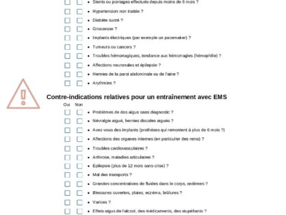EMS : existe-t-il des contre-indications?